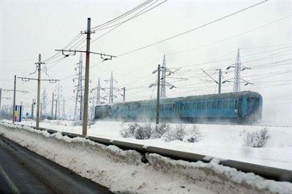 Trenuri ce circulau prin gara Braila, anulate din cauza gerului