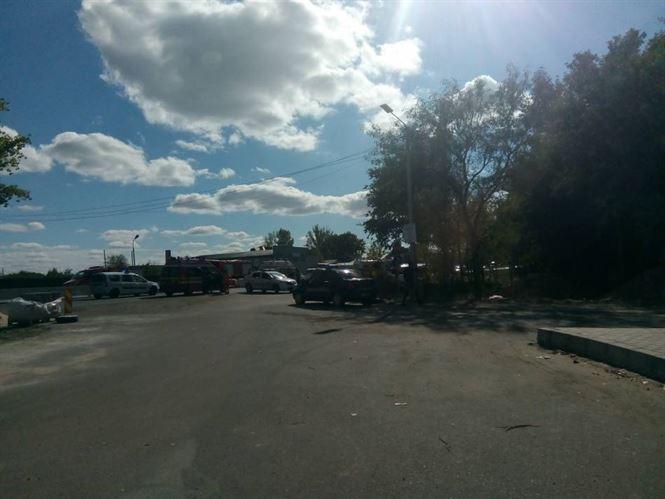 Accident pe DE 584, la intersecția cu ieșirea din stațiunea Lacu Sărat