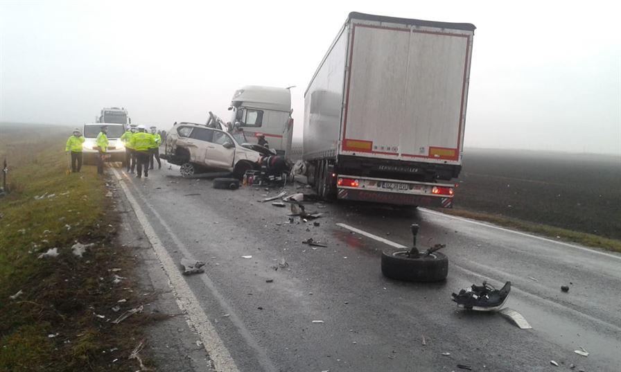 Accident cu doi morți pe DN 2B