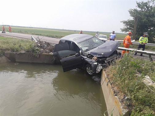 Accident in apropiere de satul Pietroiu