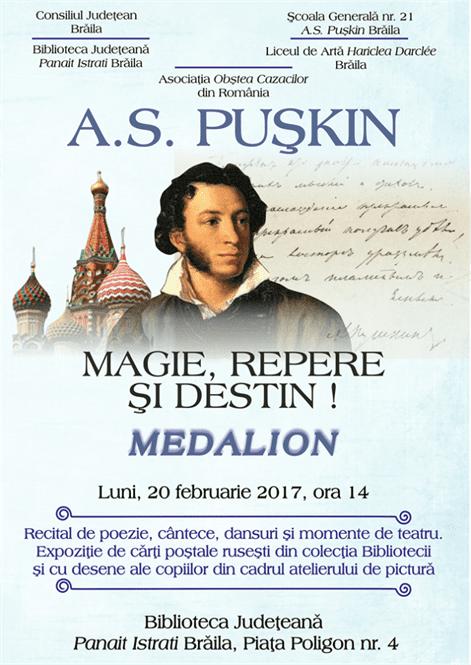 Omagiu lui Puskin la Biblioteca Judeteana