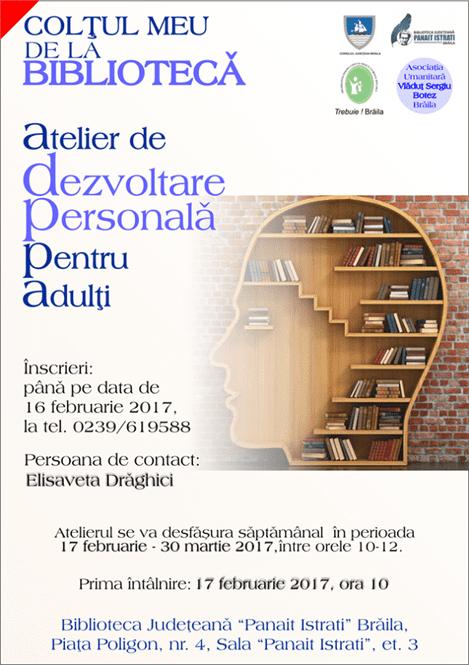 Atelier dezvoltare personala dedicat adultilor