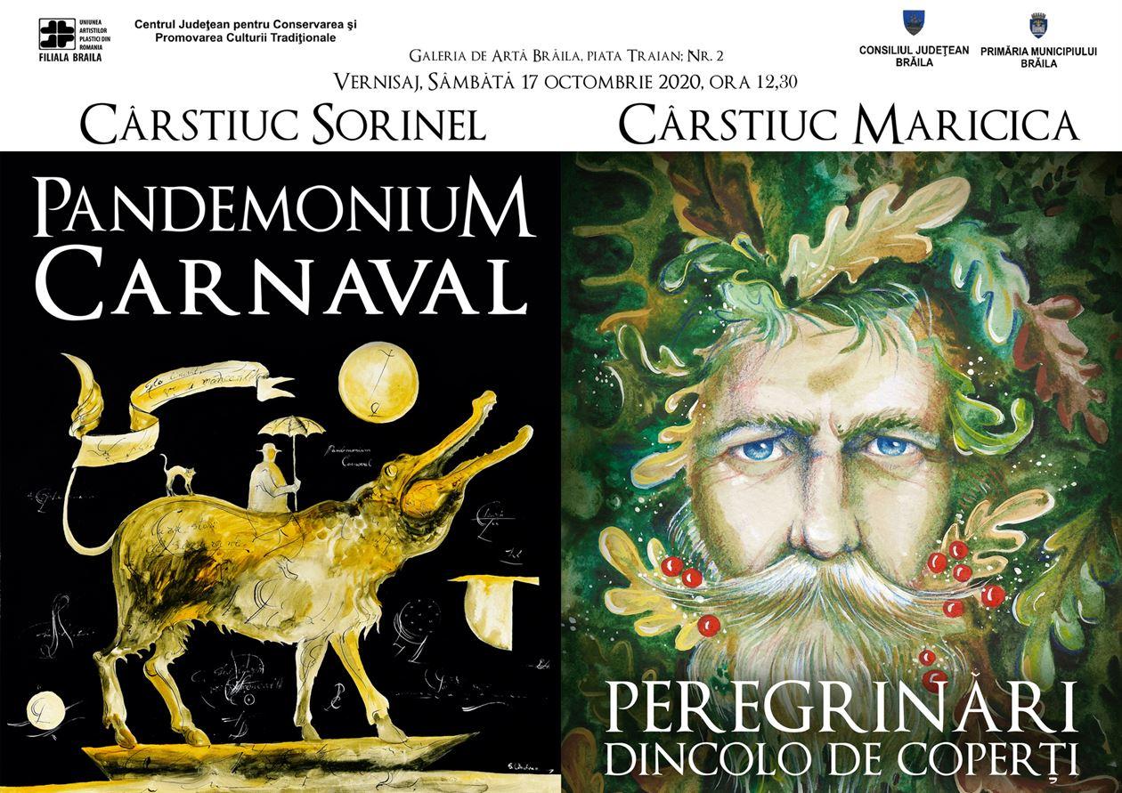 Vernisajul Expozițiilor Pandemonium Carnaval și Peregrinări dincolo de coperți