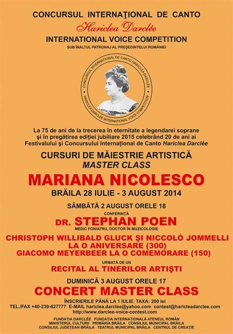 """Pregatiri pentru Concursul International de Canto """"Hariclea Darclee"""""""