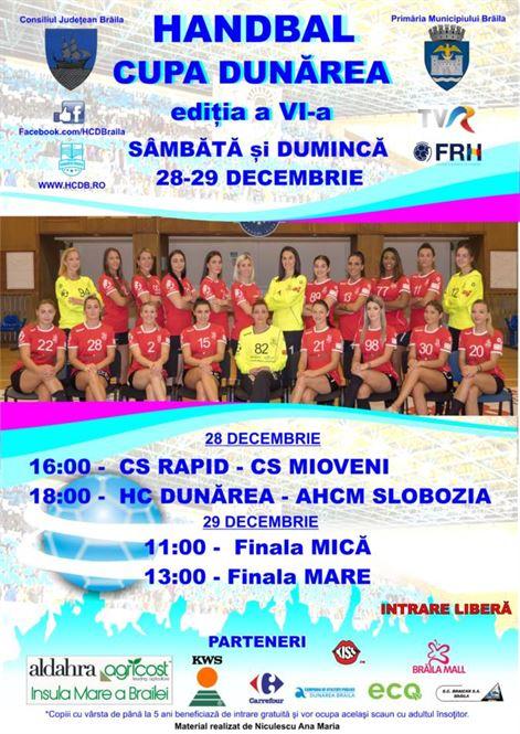 Sâmbătă și duminică ultimele meciuri din 2019 pentru HC Dunărea Brăila