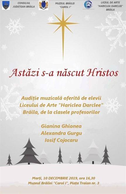Audiție muzicală dedicată sărbătorii Crăciunului la Muzeul Brăilei