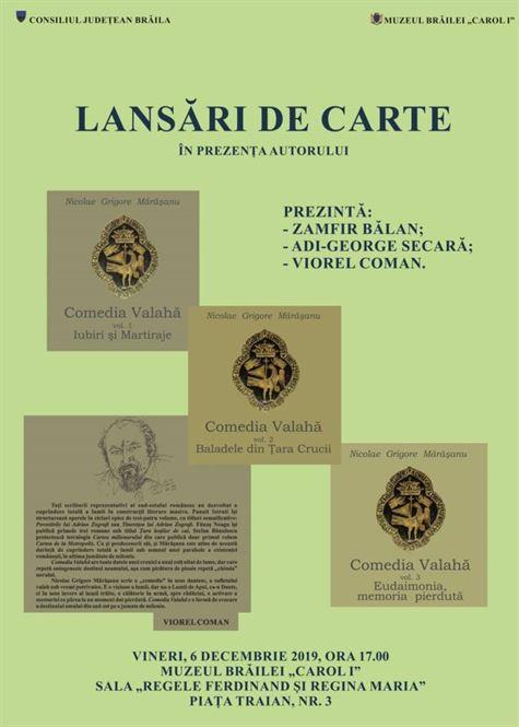 """Triplă lansare de carte la Muzeul Brăilei """"Carol I"""""""