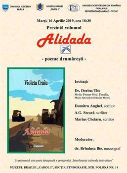 """Prezentarea volumului """"Alidada – poeme drumăreşti"""""""