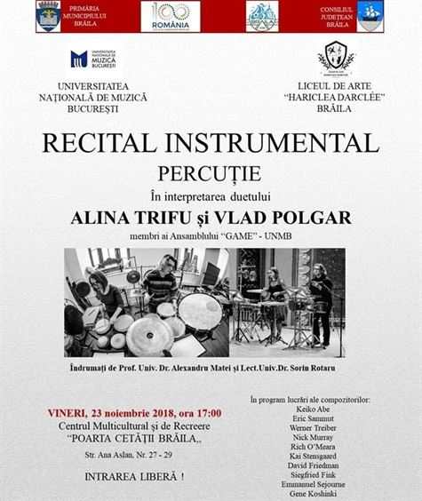 Recital instrumental de percuție