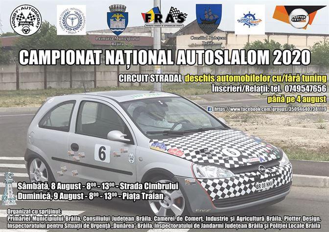 În perioada 8-9 august, la Brăila se va desfășura Campionatul Național AUTOSLALOM 2020