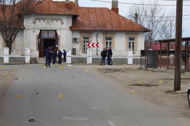 Tentativă de furt prin explozia unei butelii la bancomatul BCR din comuna Viziru
