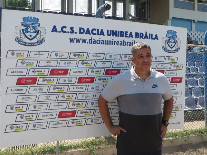 Dacia Unirea Brăila s-a despărțit antrenorul Gheorghe Barbu