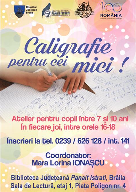 Atelier de caligrafie pentru copii