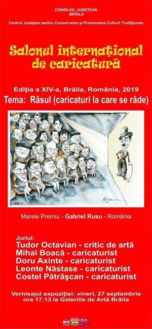 Vineri vor fi premiate caricaturile de la ediția a XIV-a a Salonului Internaţional de Caricatură