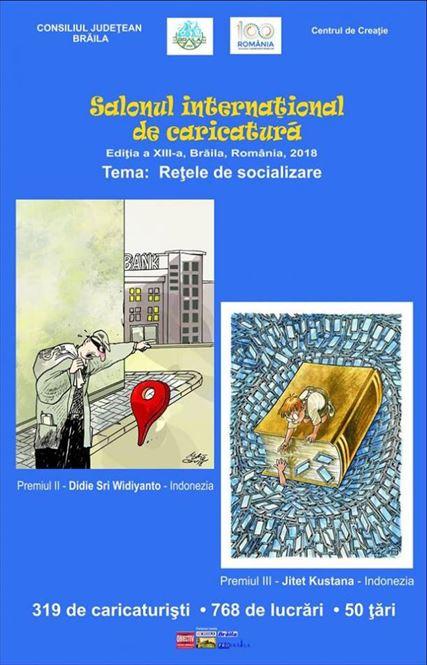 """""""Reţele de socializare"""", tema de anul acesta a Salonului Internaţional de Caricatură"""