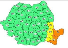 În județul Brăila va continua să ningă cel puțin până mâine la ora 10