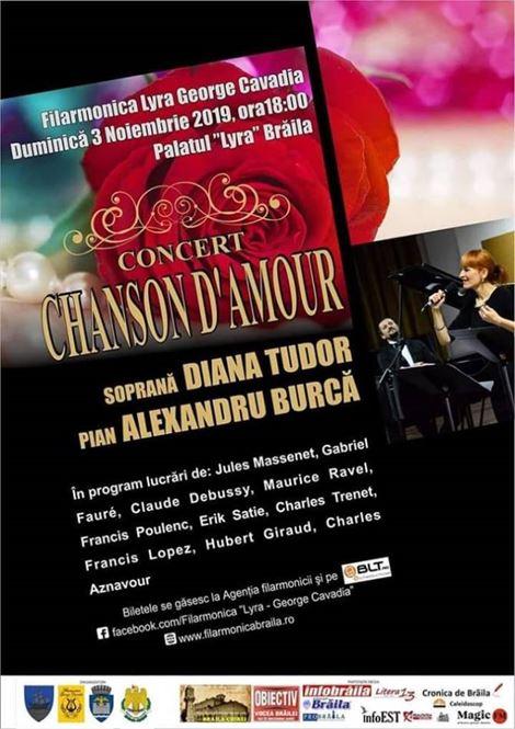 """""""Chanson d'amour"""" cu soprana Diana Tudor și pianistul Alexandru Burcă"""