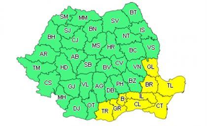 Vremea se înrăutățește, cod galben de ninsori în județul Brăila