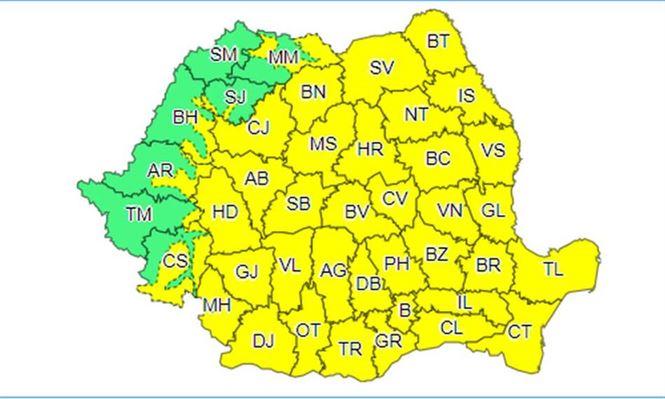 Se schimbă vremea. COD GALBEN marți în județul Brăila