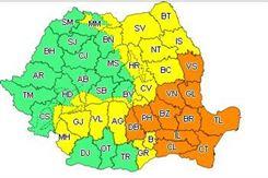 Cod portocaliu pentru județul Brăila astăzi între orele 14-21
