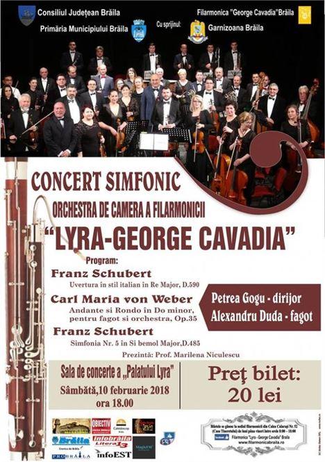 "Concert simfonic organizat de Filarmonica ""Lyra-George Cavadia"" Braila"
