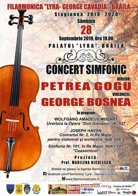 Concert Simfonic Extraordinar la deschiderea stagiunii 2019-2020 a Filarmonicii Lyra