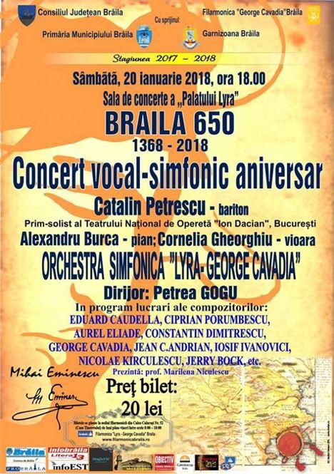 Concert vocal-simfonic dedicat Zilei Culturii Romane