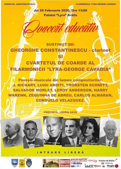 Concert educativ – Filarmonica Lyra Brăila