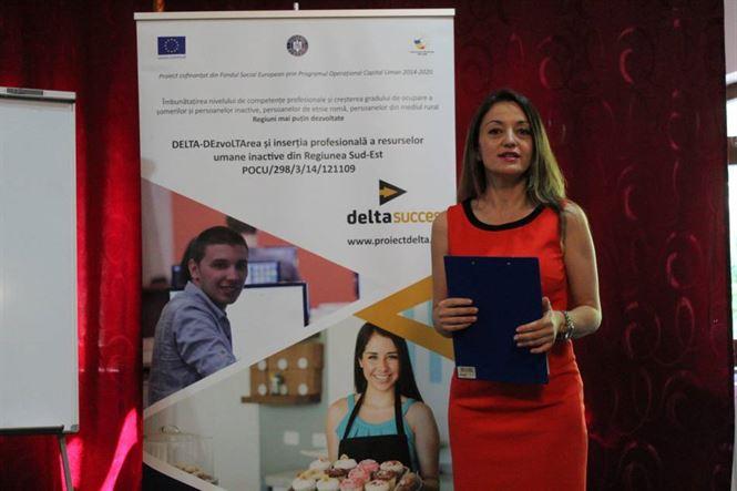 """Al cincilea workshop de informare și conștientizare din cadrul proiectului """"DELTA – DEzvoLTArea și inserția profesională a resurselor umane inactive din Regiunea Sud-Est"""""""