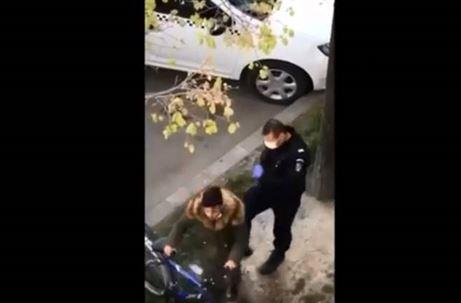 Jandarmeria Brăila verifică modul în care a acționat jandarmul care a lovit un tânăr cu piciorul