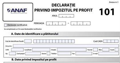 A fost actualizat formularul Declarației 101