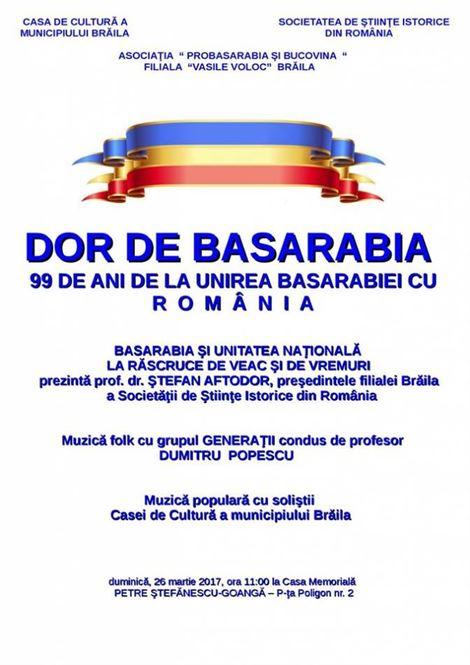 Dor de Basarabia – 99 de ani de la unirea Basarabiei cu Romania