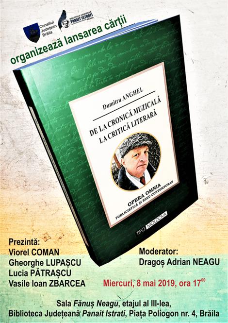 Lansare de carte a scriitorului Dumitru Anghel