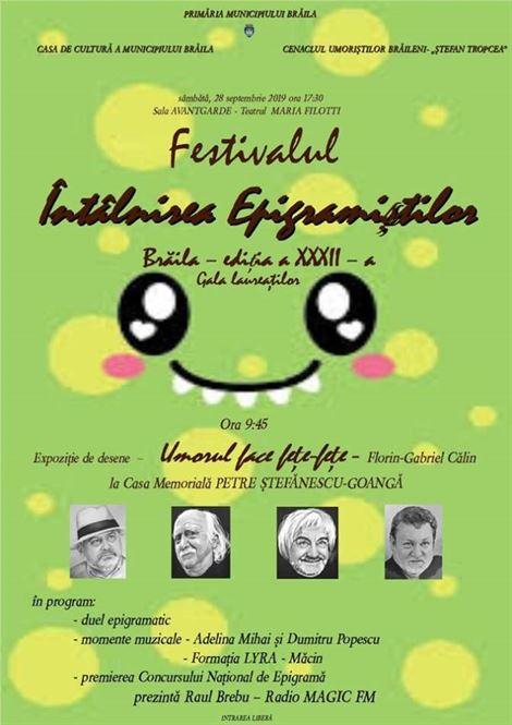 """A XXXII-a ediție a Festivalului Concurs """"Întâlnirea epigramiştilor"""""""