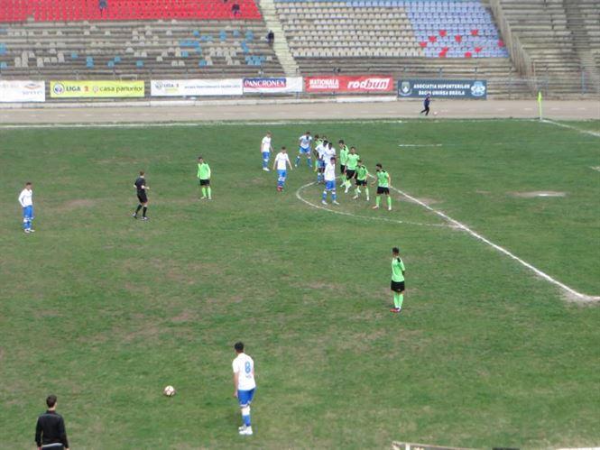 Dacia Unirea Brăila remizat, scor 2-2 (1-1), pe teren propriu cu Metaloglobus București