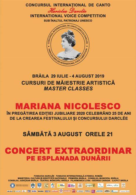 Concert extraordinar al artiștilor care participă la Cursurile de Măiestrie Artistică