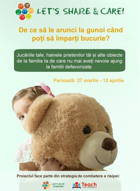 """Let`s Do It, Romania! și Teach for Romania lansează """"Let's Share & Care!"""", primul centru de minerit urban"""