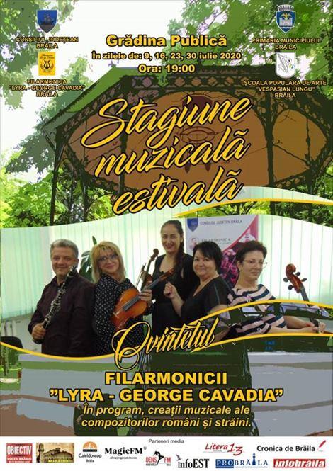 Stagiune muzicală estivală a Filarmonicii Lyra în Grădina Publică