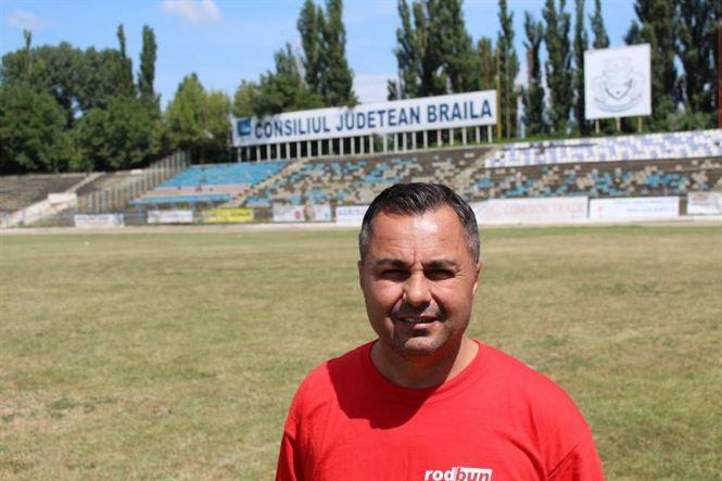 Florentin Petre la primul antrenament pentru noul sezon la Dacia Unirea Brăila