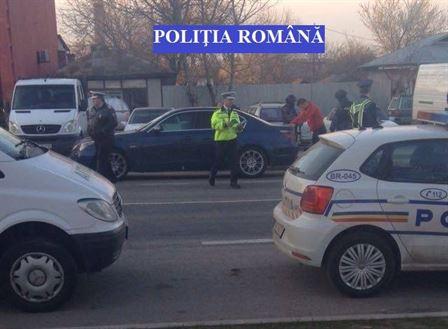Politia in actiune insotita de luptatori de la Serviciu de Actiuni Speciale