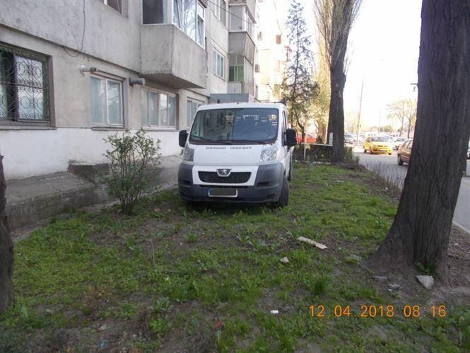 Amendat pentru parcarea pe spatiul verde din curtea blocului