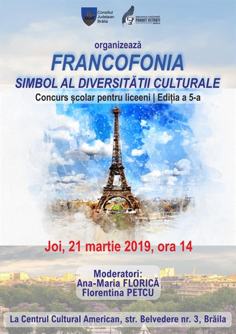 """Concursul şcolar """"Francofonia – simbol al diversităţii"""" a ajuns la ediția a V-a"""