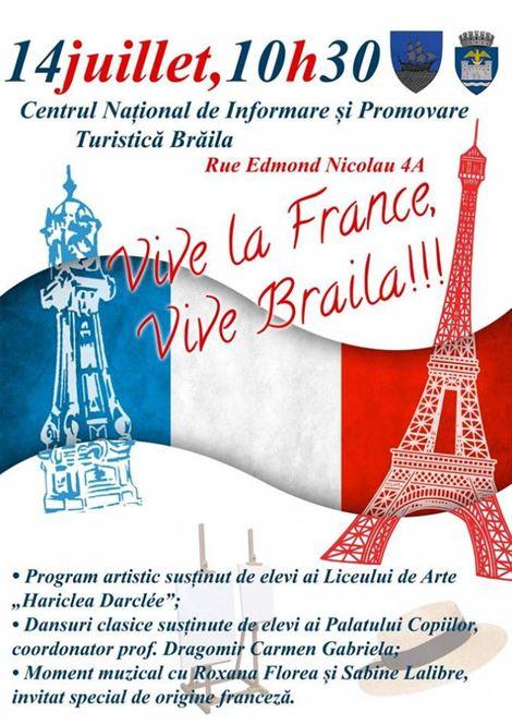 Vive la France, la Braila