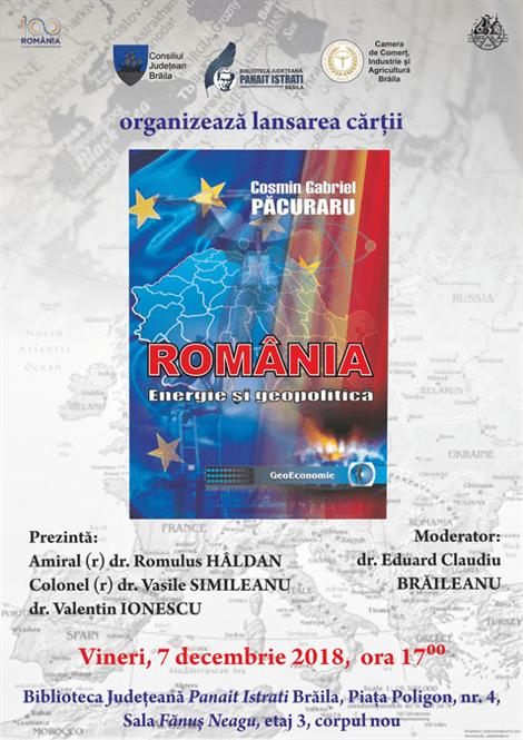 Cosmin Păcuraru își lansează în orașul natal cartea ROMÂNIA – ENERGIE ȘI GEOPOLITICĂ