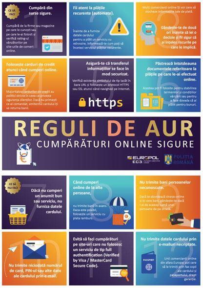 Reguli de aur pentru siguranţa online a cumpărăturilor tale