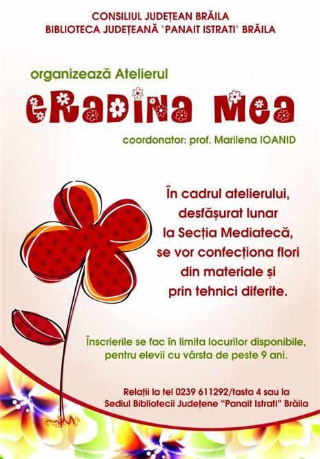 """Atelierul creativ """"Grădina Mea"""""""