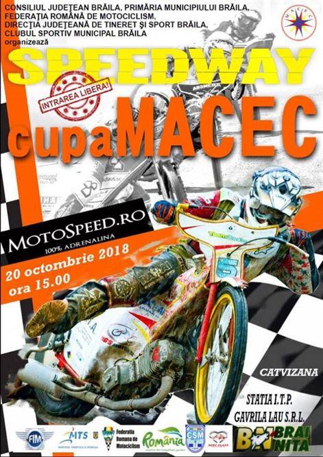 Sâmbătă, la Brăila, are loc ultima etapă din acest an a Cupei MACEC la dirt-track