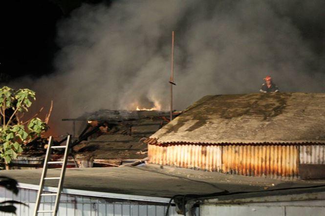 Incendiu la o clădire dezafectată a CUP Dunărea