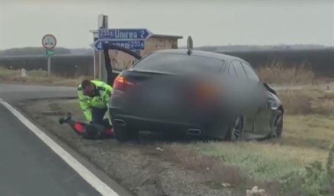 A furat un autoturism cu care a lovit o altă mașină și a fugit de la locul accidentului pe DE 584