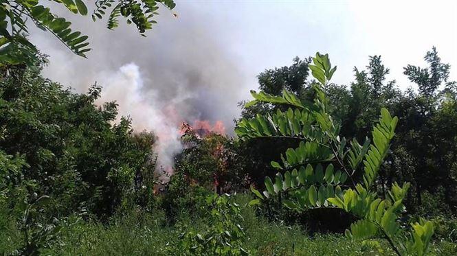22 de intervenţii pentru limitarea şi lichidarea incendiilor de vegetaţie uscată
